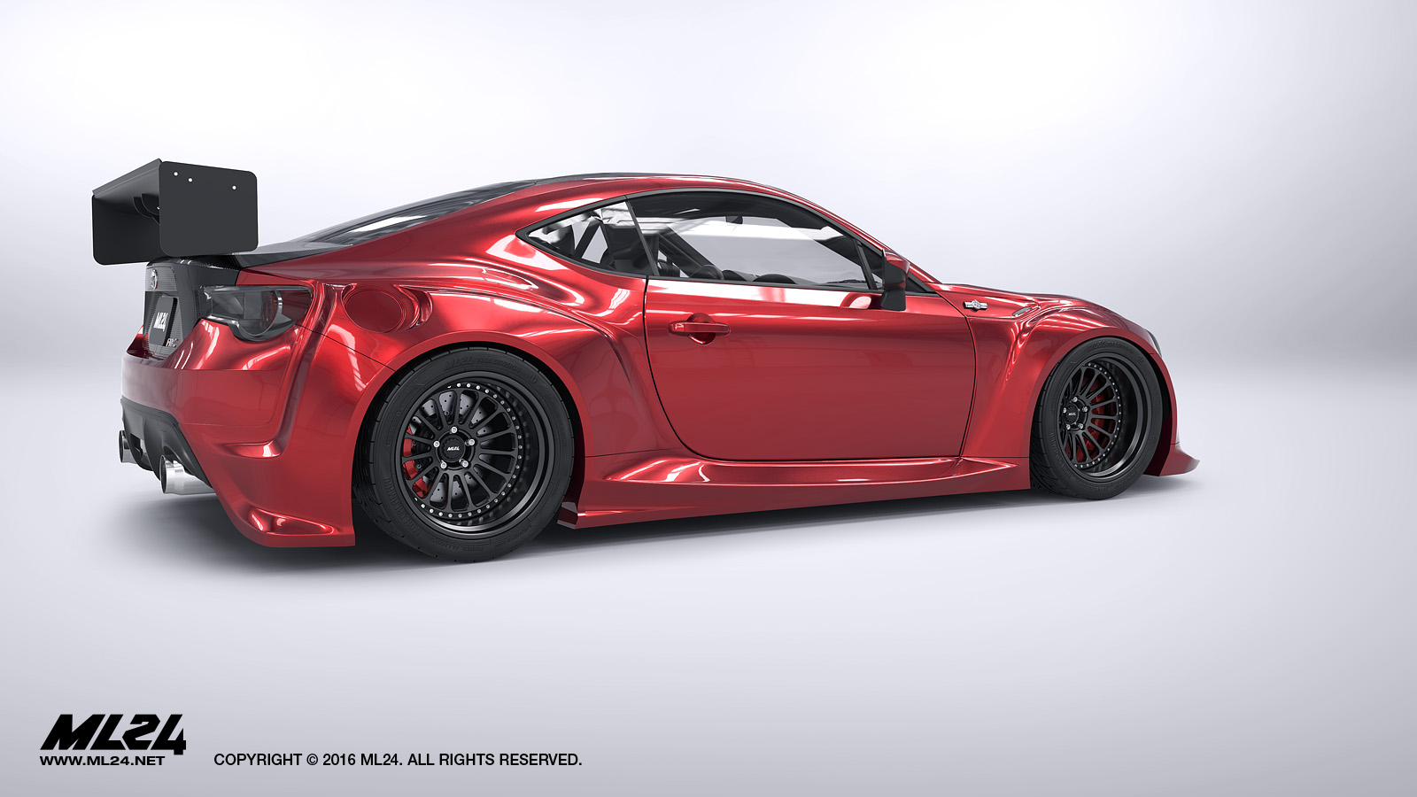 ml24 scion fr s toyota gt86 version 2 wide body kit automotive design prototyping and body kits. Black Bedroom Furniture Sets. Home Design Ideas