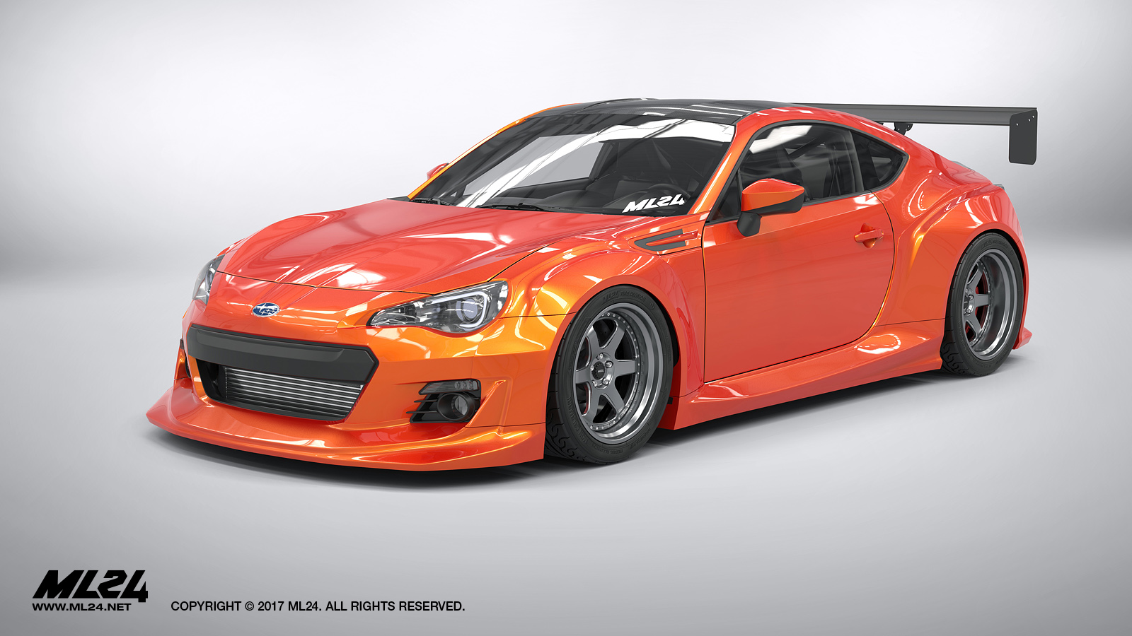 ml24 2013 2016 subaru brz version 2 wide body kit. Black Bedroom Furniture Sets. Home Design Ideas