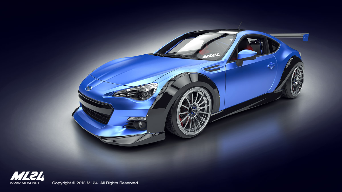 Products > Subaru BRZ Aero Lip Kit and Wide Body Set